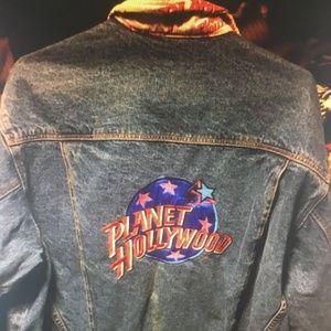 Planet Hollywood Denim Jean Jacket Size Large